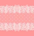 white lacy vintage elegant trim vintage pattern vector image vector image