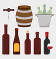 Wine digital design vector image vector image