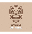 ethnic tribal mask with white text on lig vector image