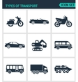 Set of modern icons Types of transport vector image