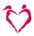 Heart of women and men vector image