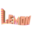 striped sign white background lemon logo vector image