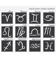 Collection of zodiac signs Hand drawn Zodiac vector image