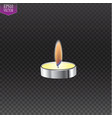 3d realistic candle frame types set on dark vector image