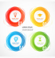 abstract geometric circle shape infographic banner vector image vector image