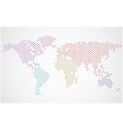 abstract world map of colorful dots vector image vector image