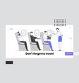 airplane crew and passengers in plane website vector image