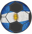 argentina flag with soccer ball background vector image