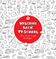 back to school greeting card kids doodles vector image vector image