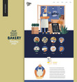bakery - small business graphics - landing page vector image vector image