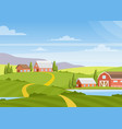 beautiful countryside vector image vector image