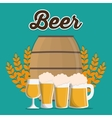 Beer glass and barrel design vector image
