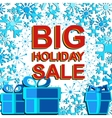 Big winter sale poster with BIG HOLIDAY SALE text vector image vector image