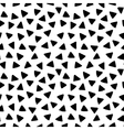 Black and white triangles hand drawn simple vector image vector image