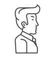 businessman manager side view line icon vector image vector image