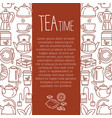 Cafe hot drinks thin line menu vector image