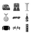 car and rally symbol set vector image vector image