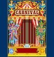 carnival gold and red poster vector image vector image