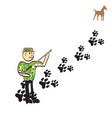cartoon hunter vector image