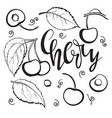 cherry set linear drawing vector image vector image