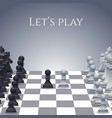 Chess Figures on board vector image vector image