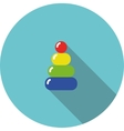 children icon variegated toy pyramid vector image