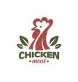 cockerel and chicken logo template stylized vector image