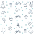 Collection stock christmas set doodle vector image vector image