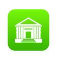colonnade icon digital green vector image