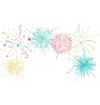 Colorful fireworks background vector image vector image