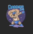 cute dog dabbing vector image