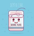 dental floss health care icon vector image vector image