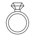 diamond engagement ring icon outline style vector image vector image