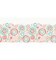 Doodle textured circles horizontal seamless vector image vector image