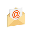 e-mail symbol flat isometric icon or logo 3d vector image vector image