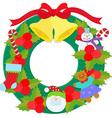 fantastic wreath vector image vector image