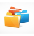 File Folder Colorful Set vector image