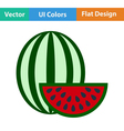 Flat design icon of Watermelon vector image vector image