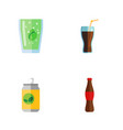 flat icon soda set of juice cup beverage and vector image vector image