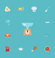 flat icons blender cooking notebook kitchen vector image