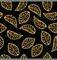 gold glitter maple tree leaf seamless pattern vector image vector image