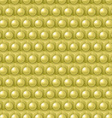 Golden cube and shere pattern vector image vector image