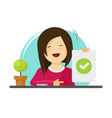 happy girl showing positive answer vector image