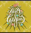 happy new year and merry christmas 2018 4 vector image vector image
