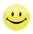 Happy Smiley Face Button Badge vector image