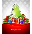 holiday on a christmas theme vector image