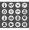 Holidays icon set vector image