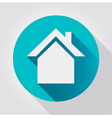 home icon flat design vector image vector image