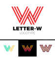 impossible shape letter w logo design template vector image vector image