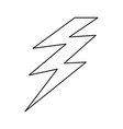 isolated electric thunder vector image vector image
